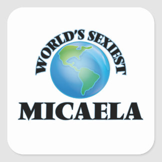 Micaela la plus sexy du monde sticker carré