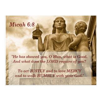 Micah 6 carte de mémoire de 8 écritures saintes