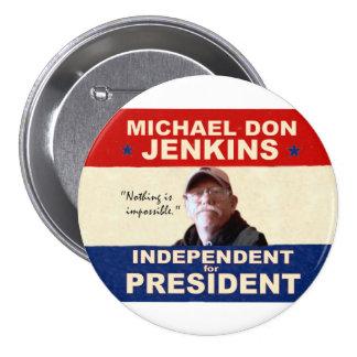 Michael Don Jenkins pour le président 2012 Badge