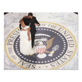 Michelle et Barack Obama Carton D'invitation 10,79 Cm X 13,97 Cm