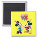 Mickey Mouse et anniversaire de Minnie Aimants