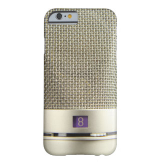Microphone argenté vintage Audiophile Coque Barely There iPhone 6
