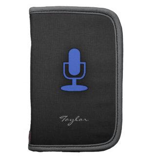 Microphone de bleu royal agendas