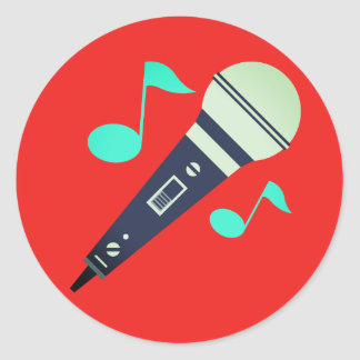 Microphone musical Emoji Sticker Rond