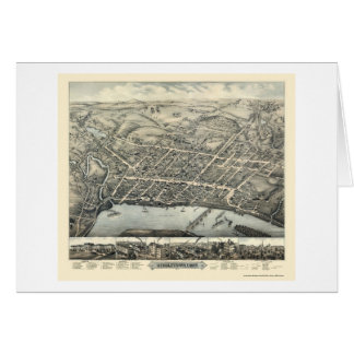 Middletown, carte panoramique de CT - 1877