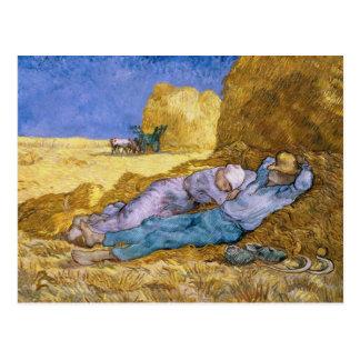Midi de Vincent van Gogh |, la sièste, après Carte Postale