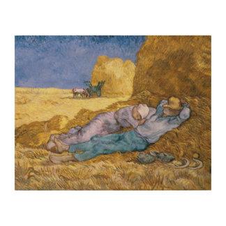 Midi de Vincent van Gogh |, la sièste, après Impression Sur Bois