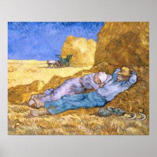Midi de Vincent van Gogh |, la sièste, après Poster