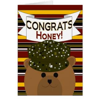 Miel - soldat Congrats d'armée ! Cartes