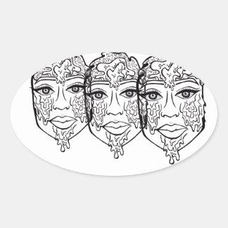 Miel X 3 Sticker Ovale