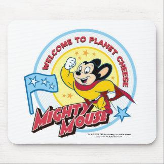 """Mighty Mouse : """"Accueil au fromage"""" Mousepad de pl Tapis De Souris"""