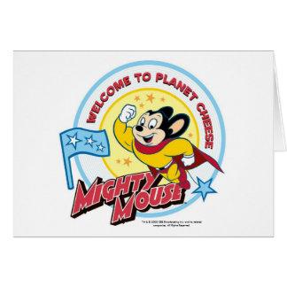 """Mighty Mouse : Carte de voeux de """"accueil"""""""