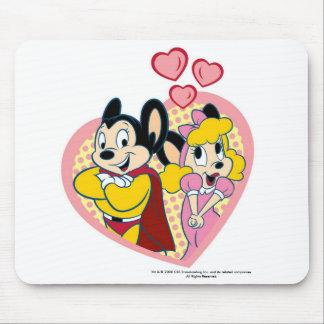 Mighty Mouse dans l'amour Mousepad Tapis De Souris