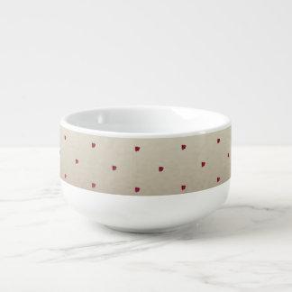 Mignon adorable, coccinelles, mug à soupe