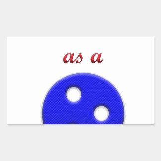 Mignon comme bouton sticker rectangulaire