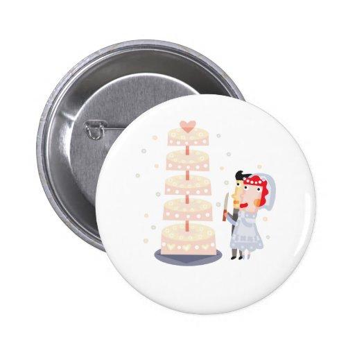 """Mignon, conception """"de gâteau de mariage"""" pin's"""