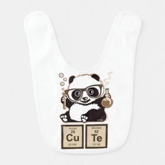 Mignon découvert par panda de chimie bavoir de bébé