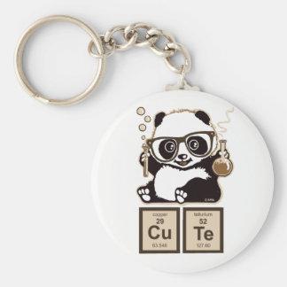Mignon découvert par panda de chimie porte-clé rond