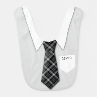 Mignon drôle de cravate du costume du garçon bavoir