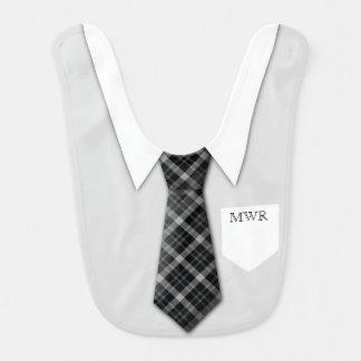 Mignon drôle de cravate du costume du garçon bavoirs pour bébé