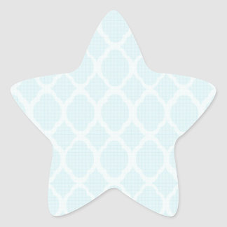 Mignon élégant girly blanc bleu-clair marocain sticker en étoile