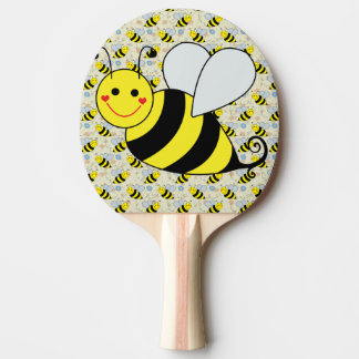 Mignon gaffez l'abeille avec le motif raquette tennis de table