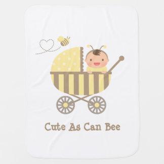 Mignon gaffez le bébé d'abeille dans le calembour couvertures pour bébé