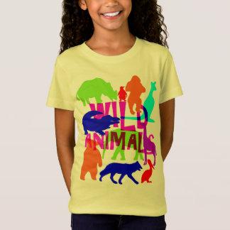 Mignon lumineux coloré d'animaux sauvages T-Shirt