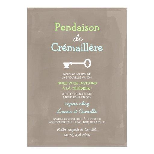 Mignon Pendaison de Crémaillère Faire-parts