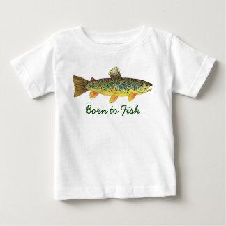 """Mignon """"soutenu pour pêcher"""" la pêche de mouche de t-shirt pour bébé"""