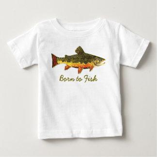 """Mignon """"soutenu pour pêcher"""" la pêche de truite t-shirt pour bébé"""
