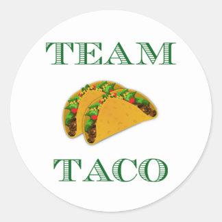 "Mignon ""taco d'équipe "" sticker rond"