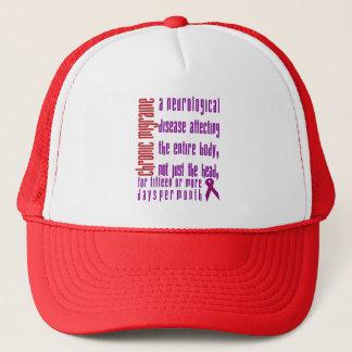 Migraine chronique - casquette de la maladie