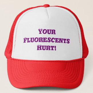 Migraine - votre Fluorescents blessé - casquette