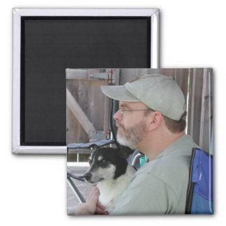 Mike et scoop magnet carré
