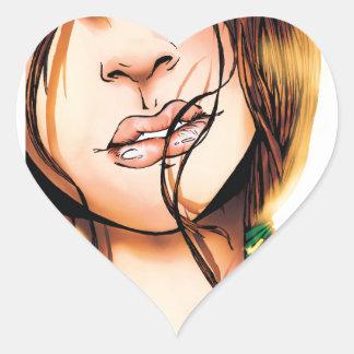 Miki - chauffez sticker cœur