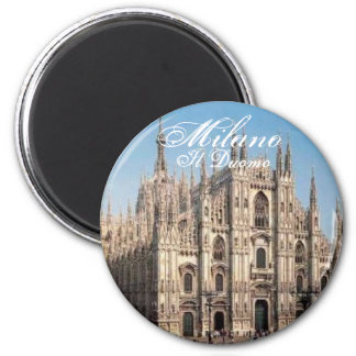 Milano_Duomo, Duomo de Milan, IL Magnet Rond 8 Cm