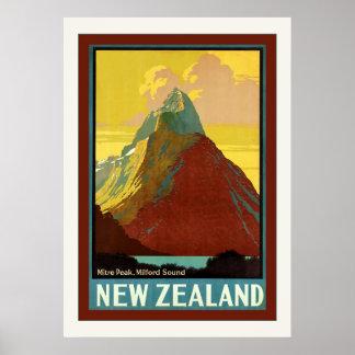 ~ Milford Sound de crête de mitre de ~ de la Affiches