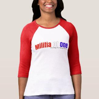Milice d'un 3/4 T-shirt de douille