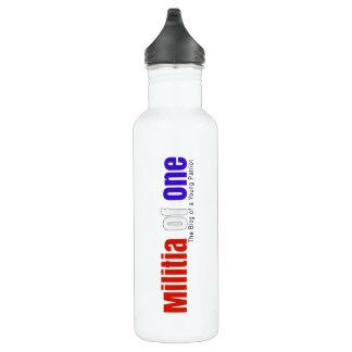 Milice d'une bouteille d'eau