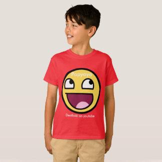 milieu de chemise d'emoji de popyoyo (rouge) t-shirt