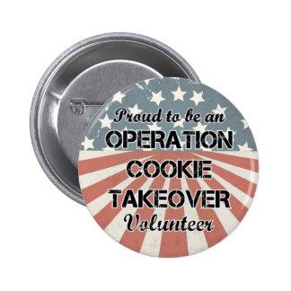 Militaire de carrière volontaire de bouton badge