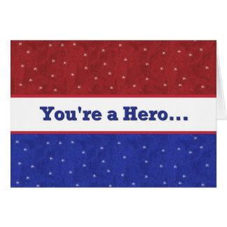 Militaire - soutenez nos troupes - vous êtes un carte de vœux