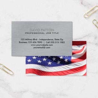 Militaires patriotes balayés du drapeau   des cartes de visite