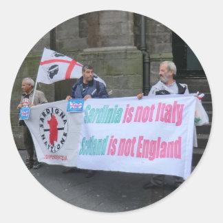 Militants sardes de l'indépendance en Ecosse Sticker Rond