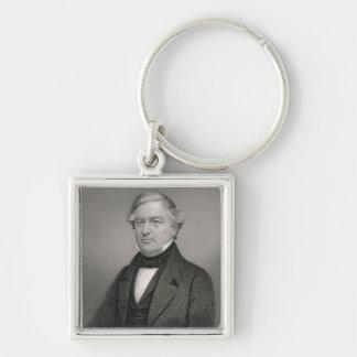 Millard Fillmore, gravé par Thomas B. Welch (181 Porte-clé Carré Argenté
