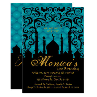 Mille et une nuits, invitation turquoise