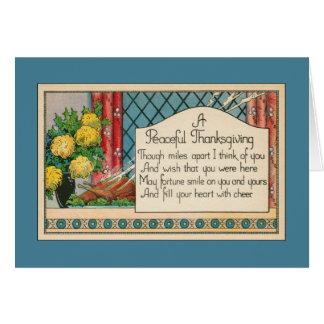 Milles à part de thanksgiving - souhaitant vous carte de vœux