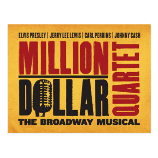 Million de logo de quartet du dollar carte postale