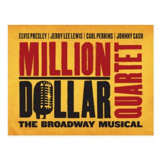 Million de logo de quartet du dollar cartes postales